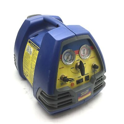 Yellow Jacket 95760 Recoverxlt Refrigerant Recovery Machine 2-port 12hp 115vac