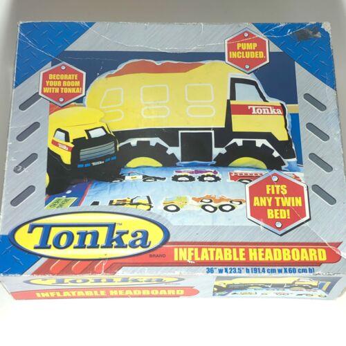 TONKA Dump Truck Inflatable Headboard Fits Any Twin Bed Pump
