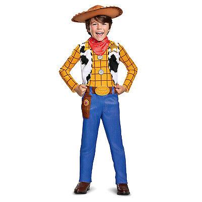 Toy Story Woody Halloween Costume (Boys Disney Toy Story 4 Woody Cowboy Halloween Costume Toddler Kids 3T-4T S)
