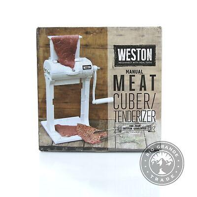 Used Weston 07-3101-w-a Manual Heavy Duty Meat Cuber Tenderizer In White