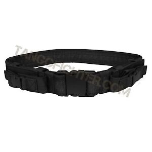 CONDOR TB Tactical Instructor Pistol Cuff Duty Nylon Belt BLACK