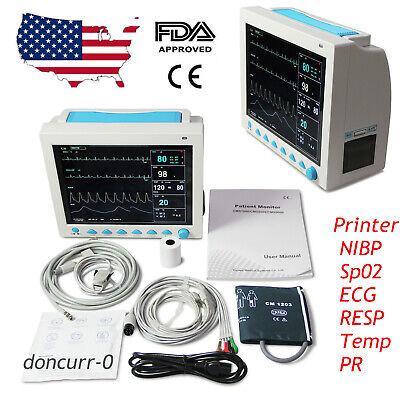 Cefda Cms8000 With Printer Vital Signs 7-parameter Patient Monitor Icu Contec