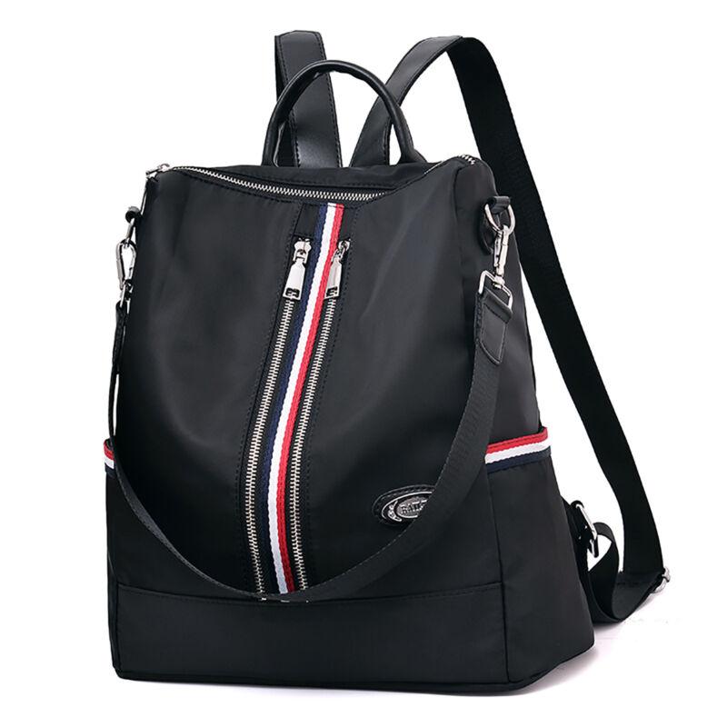 Schwarz Nylon Rucksack Damenrucksack Oxford Damen Mädchen Rucksack Damentasche