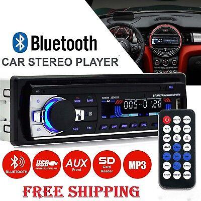 Car Radio Bluetooth Stereo Player MP3/USB/SD/AUX-IN/FM In-dash IPod Head Unit