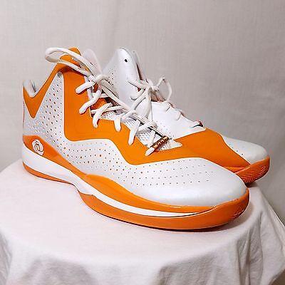wholesale dealer a1298 e793b Adidas Mens Sm D Rose 773 III Basketball Shoes Derrick Rose White Orange US  19