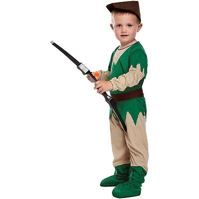 TODDLER ROBIN HOOD 3 YRS HISTORICAL DRESS UP OUTFIT Boys fancy dress costume - Robin Hood Toddler Costume
