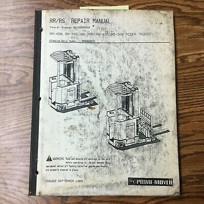 Bt Prime Mover Rrrs Reach Truck Service Shop Repair Manual Fork Lift Rider
