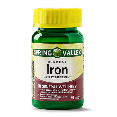 Conclusion 6/19 Spring Valley Slow-Release Iron Dietary Supplement - 30 Tablets