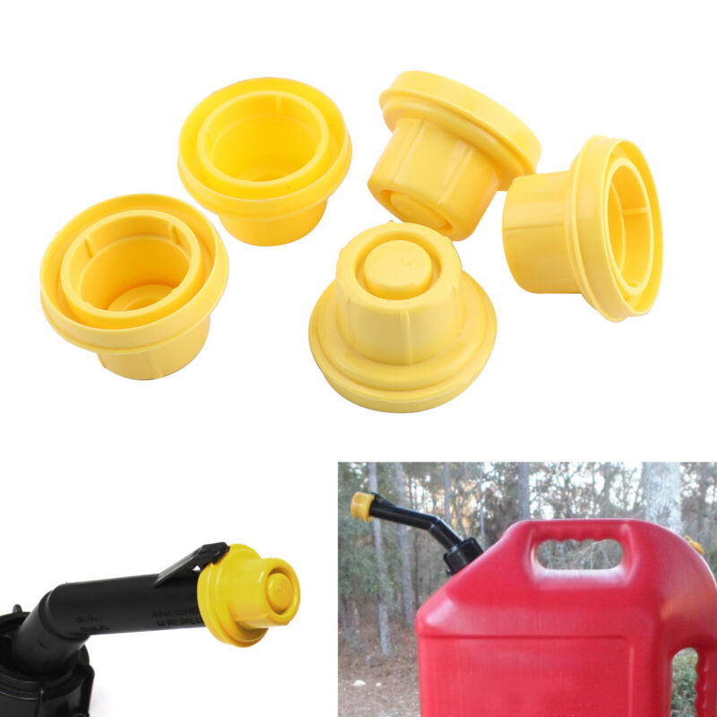 5xReplacement YELLOW SPOUT CAP Top For BLITZ Fuel GAS CAN 900302 900092 900094.