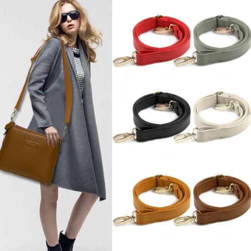 Uk Diy Replacement Leather Bag Shoulder Strap Handle Cross Body Adjule 120cm