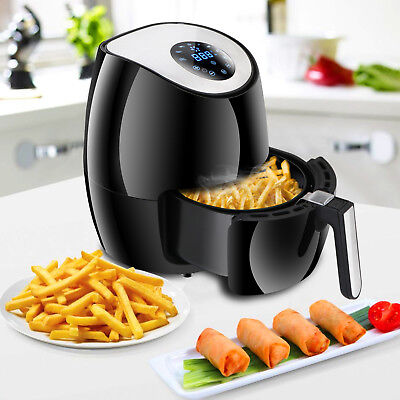 1300w Electric Air Fryer Low-fat Touch Screen Control W 6 Cooking Presets Timer