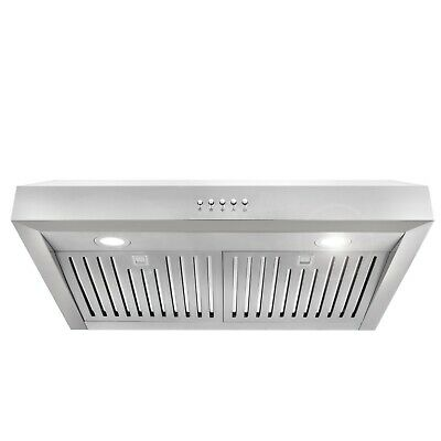30 in Under Cabinet Range Hood (OPEN BOX) Stainless Steel Permanent Filters, LED