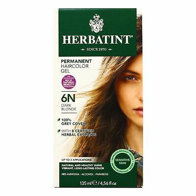 Herbatint Permanent Herbal Haircolour Gel 6N Dark Blonde - 1