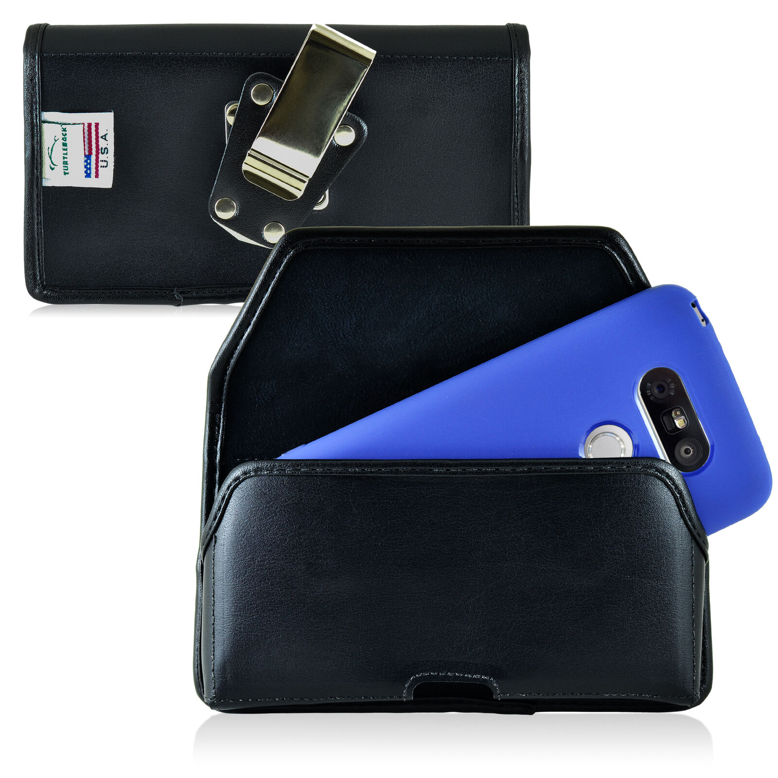 turtleback-lg-g5-leather-black-pouch-holster-cell-phone-case-metal-belt-clip