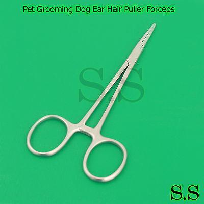 Pet Grooming Dog Ear Hair Puller Forceps Hair Pulling Tweezers (Straight)
