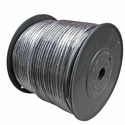 MICROPHONE MIC Raw Bulk AUDIO CABLE wire 500ft PREMIUM BLACK balanced shielded ()