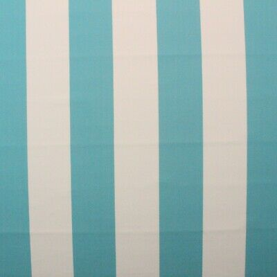 Aruba Sunbrella - SUNBRELLA 4028 EXPEDITION ARUBA CANVAS STRIPE TURQUOISE WHITE FABRIC BTY 54