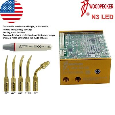 Us Woodpecker Dental Ultrasonic Piezo Built In Scaler Endo Uds-n3 Led Handpiece