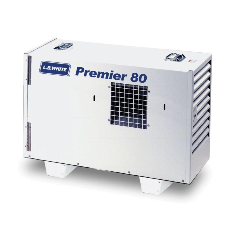 LB White Premier 80 DF 80,000 BTUH, Dual Fuel LP/NG, w/Thermostat, Hose, Reg.