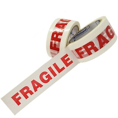 12 Rolls Of Printed FRAGILE Packing Tape 48mm x 66M