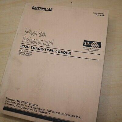 Cat Caterpillar 953c Track Loader Crawler Parts Manual Book Catalog Bbx Spare