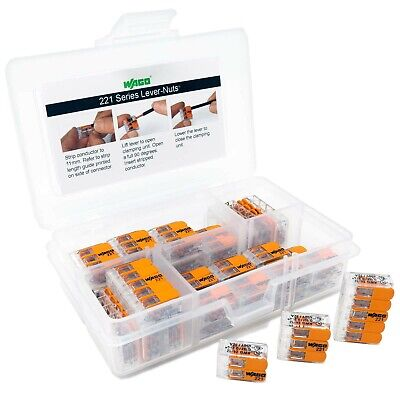 WAGO 221 LEVER-NUTS 36pc Compact Splicing Wire Connector Assortment
