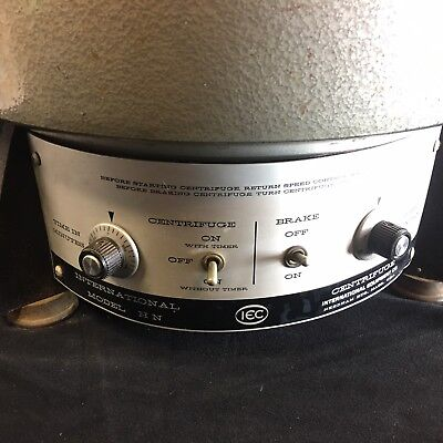 IEC International HN Lab Benchtop Centrifuge & Fixed Angle Rotor *spindle Wobble