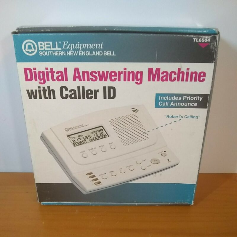 Bell Equipment Digital Answering Machine w/ Caller ID. (TL-6504) New/ Open Box