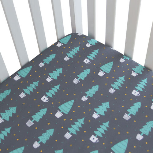 """Standard Crib Mattress Sheets for Baby Soft Fitted Crib Sheet Forest 52""""x28"""""""