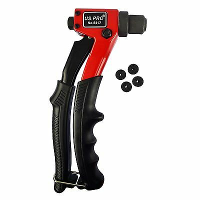 Sola mano Compact Pot Remachadora Pop remache Ribeteador 2,4mm - 4,8 A725