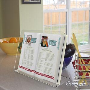 Cook Book Stands Kitchen Recipe Display Cookbook Clear