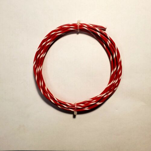 14 AWG M22759/11 Mil-Spec Wire, Red/Wht  (PTFE) Stranded Silver Plated, 25 ft