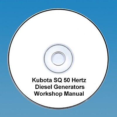 Kubota SQ 50 Hertz  Series Diesel Generators Workshop Manual - Many Models!!