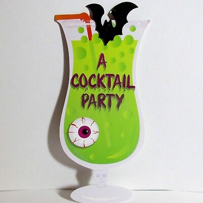 Halloween Party Invitations Green Voodoo Cocktail 8 Cards Envelopes Amscan NEW](Halloween Cocktail Party Invitation)