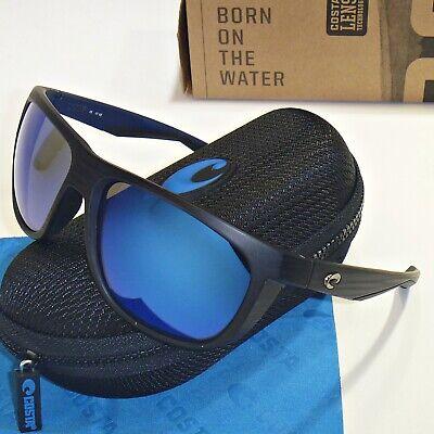 Costa Del Mar Kiwa- Sonnenbrille Teak Blau Spiegel 400G Glas Linse Kwa 111
