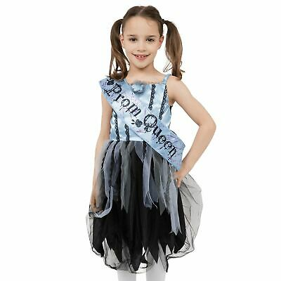 Girls Kids Gothic Zombie Prom Queen Halloween Fancy - Gothic Prom Queen Halloween Kostüm