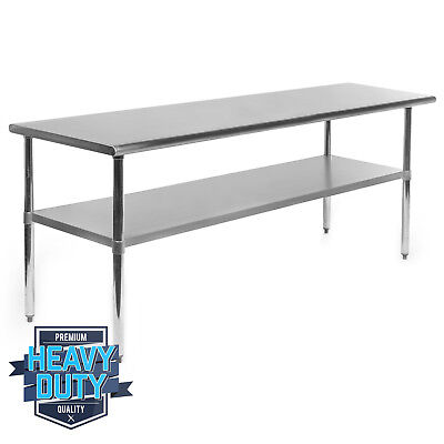 Stainless Steel Commercial Kitchen Work Food Prep Table - 24 X 72
