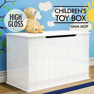High Gloss Toy Box Chest Storage Drawer Bench Children Clothes Adelaide CBD Adelaide City Preview