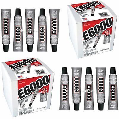 E6000 Glue .18 fl oz Mini Tubes Industrial Strength Adhesive (10 PACK) Industrial Strength Glue