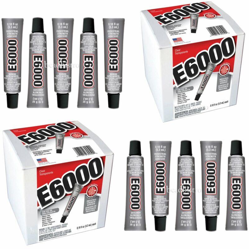 E6000 Glue .18 fl oz Mini Tubes Industrial Strength Adhesive (10 PACK)