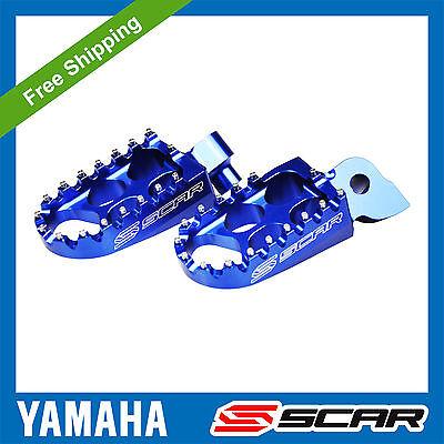 FOOTPEGS STD <em>YAMAHA</em> YZ 65 85 125 YZ F YZF 250 450 WRF BLUE FOOT PEGS R