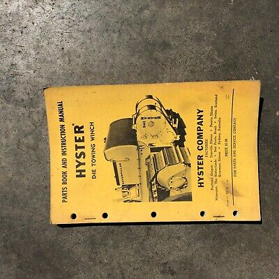 Hyster Winch Parts Catalog Instruction Manual D4e D4 Cat Dozer