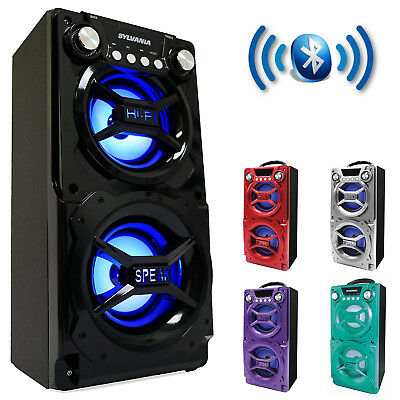Party Speaker System Bluetooth Big Led Portable Stereo Light Up Tailgate Loud - Portable Party Lights