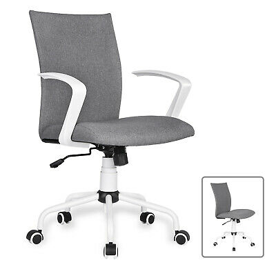 Computer Desk Chair Mid Back Swivel Home Office Task Chair With Removable Arms