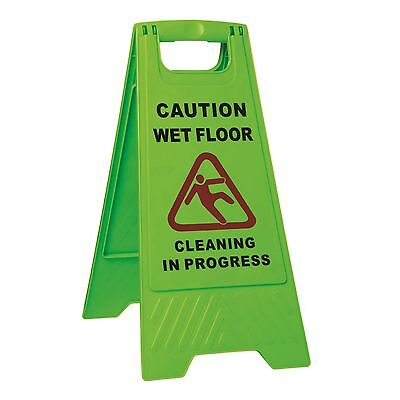 Sabco CAUTION WET FLOOR SIGN, GREEN A Frame Shaped, Robust Plastic *Aust Brand for sale  Shipping to Canada