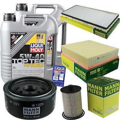 Inspection Kit Filter Liqui Moly Oil 10L 5W-40 for VW Lt 28-46, II - Diameter Fresh Air Kit