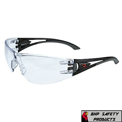 Radians Optima Safety Glasses With Black Frame Clear Anti-fog Lens 1 Pair