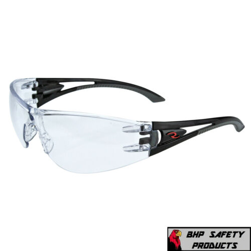 RADIANS OPTIMA SAFETY GLASSES WITH BLACK FRAME & CLEAR ANTI-FOG LENS (1 PAIR)