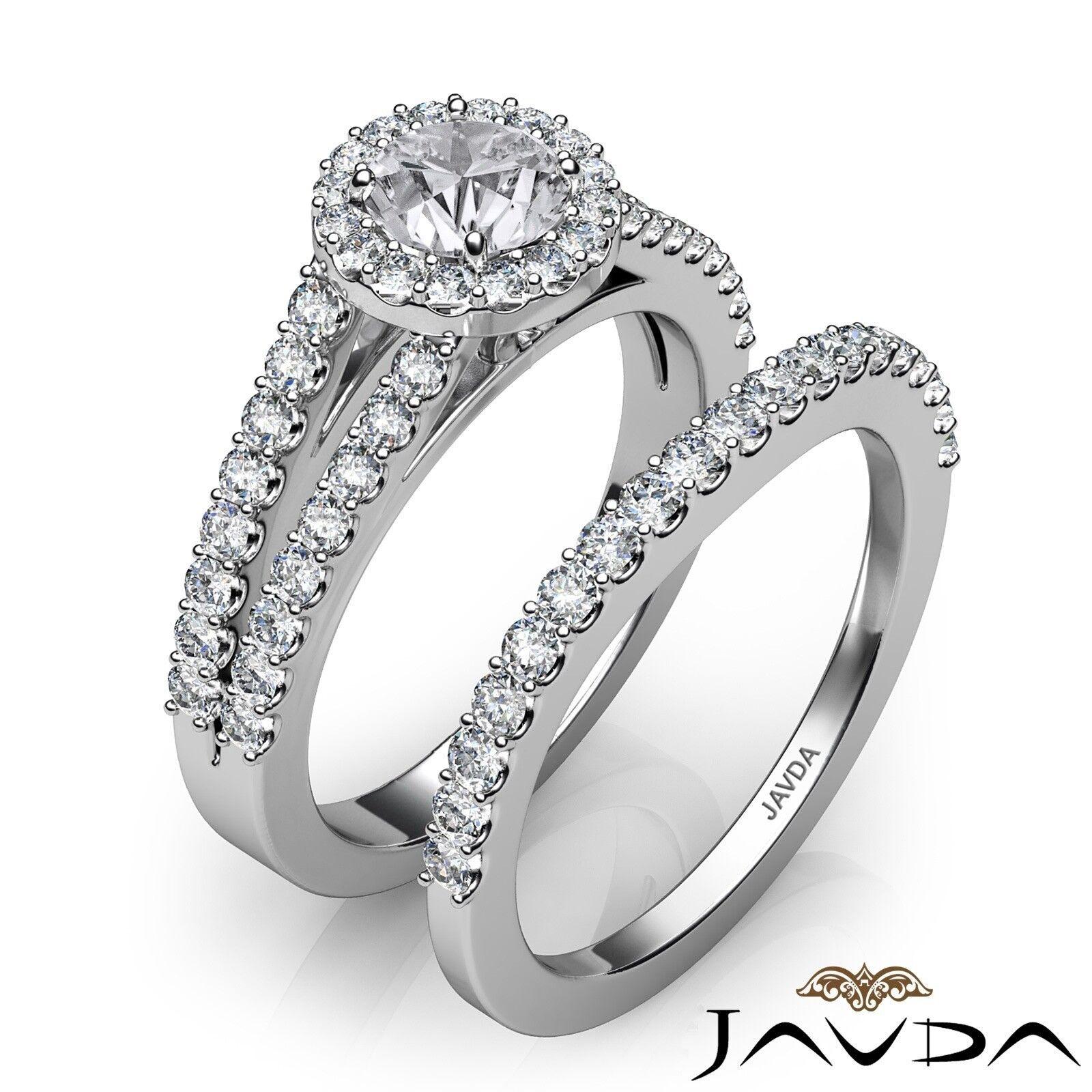 1.85ctw Luxurious Wedding Bridal Round Diamond Engagement Ring GIA G-VVS1 W Gold 2