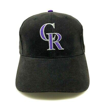 Colorado Rockies Hat (Colorado Rockies Baseball Cap Dad Hat MLB Adjustable Black Purple)